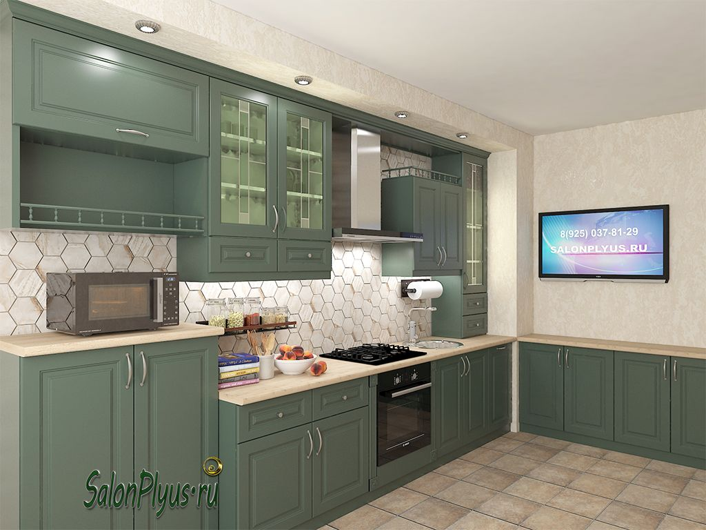 Kitchen MDF matte enamel to order in Moscow