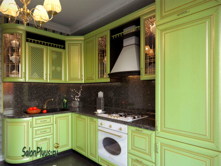 The_kitchen_is_MDF_with_patina_gold_ash_pistachio
